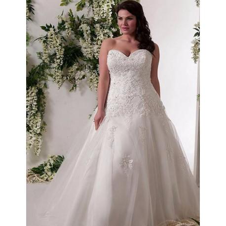 bílé svatební šaty se sníženým pase Alyce L-XL, XL-XXL