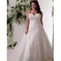 bílé svatební šaty se sníženým pase Alyce XL-XXL 2019