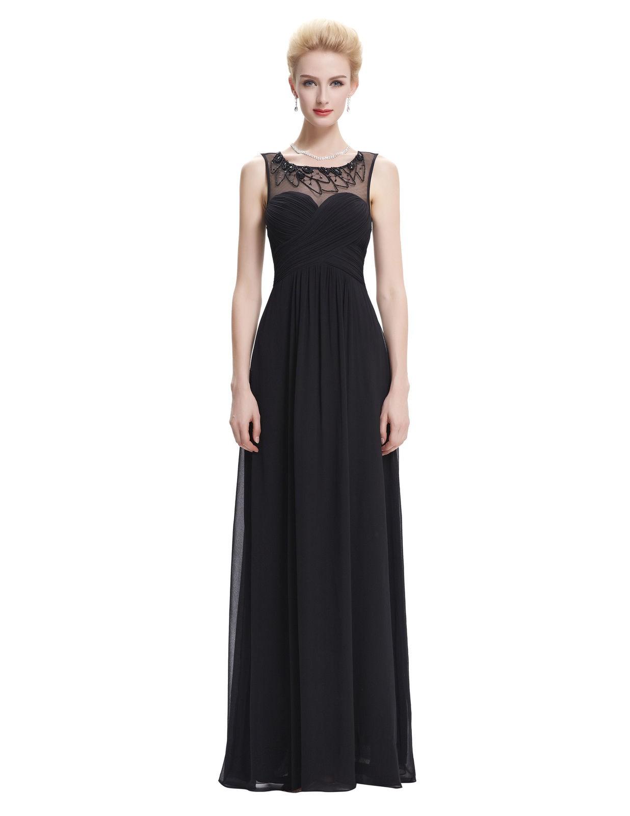 Černé společenské šaty na ples s tylovými ramínky XS 304889f86a6
