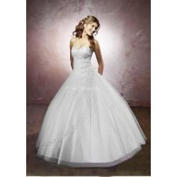 princeznovské svatební šaty s bohatou sukní Nina XXL-3XL