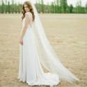 jednovrstvý tylový svatební závoj - délka 2 metry