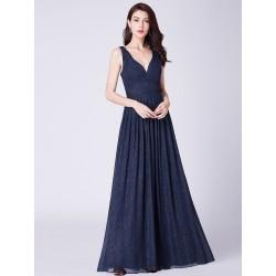 tmavě modré plesové šaty na ramínka Nina XL