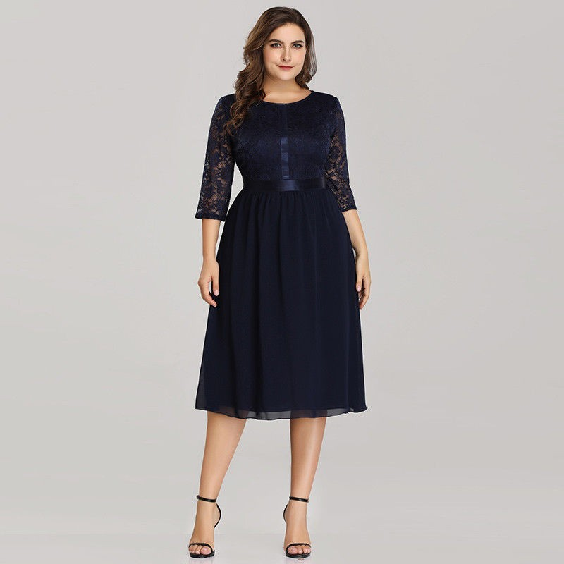4fe12b229 Krátké modré společenské šaty na ples nebo svatbu - šaty pro matku