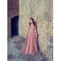 starorůžové plesové šaty na maturitní ples Elisabeth XS-S
