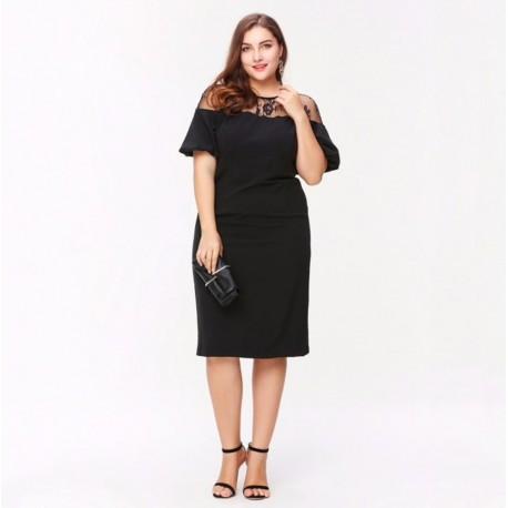 krátké černé společenské šaty pro matku nevěsty XXL