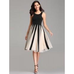krátké černé společenské šaty s tylovou sukní Anna S-M