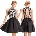krátké černé společenské šaty do tanečních Linda M-L