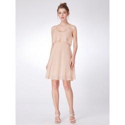 krátké champagne společenské šaty pro družičku S, M