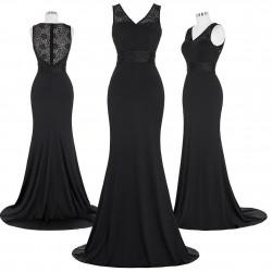dlouhé černé upnuté společenské šaty mermaid Delizé S