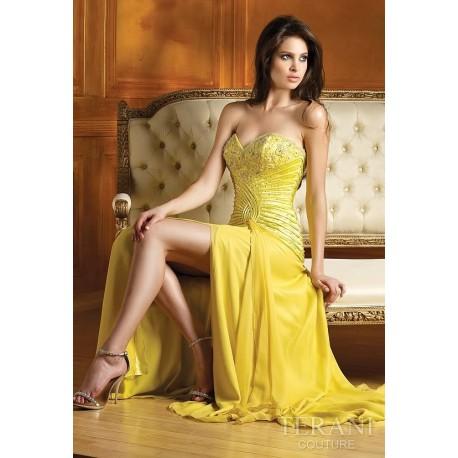 Úchvatné žluté večerní šaty na míru