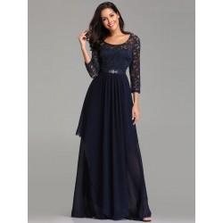 tmavě modré dlouhé společenské šaty pro matku nevěsty XXL-3XL