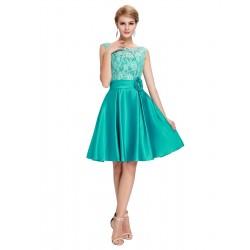 krátké zelené společenské šaty na ples Eva S