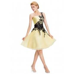 krátké žluté společenské šaty na jedno rameno Annie S-M