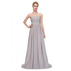 dlouhé antické šedé plesové šaty Mina XS-S