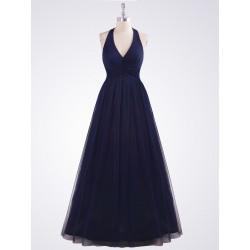 tmavě modré společenské šaty na ples XL