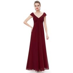 tmavě červené společenské šaty na ramínka jednoduché S
