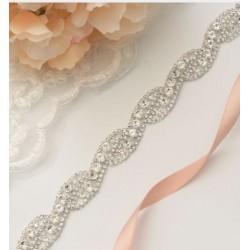saténová svatební stuha na svatební šaty - off white