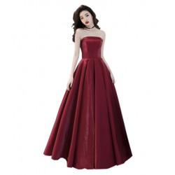 plesové šaty na maturitní ples saténové Eliza M-L vínové