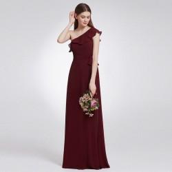 tmavě červené vínové společenské šaty pro družičku na svatbu M