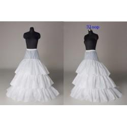 spodnice pod svatební šaty - 3 kruhy, prodloužená do krátké vlečky