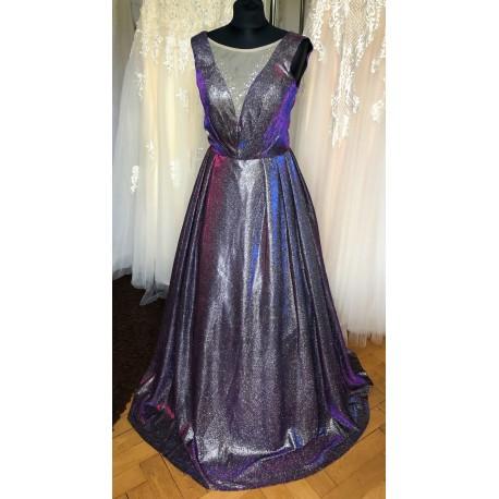 krásné zářivé plesové šaty na maturitní ples M