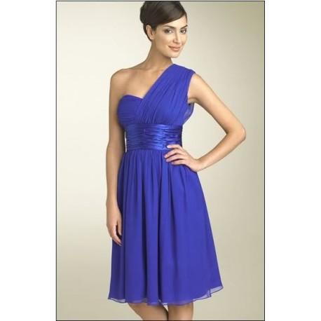 Krátké modré šaty na míru
