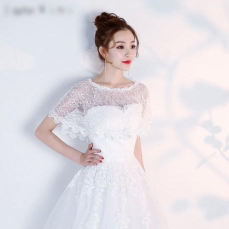 krajkové bolerko ke svatebním šatům - čistě bílé