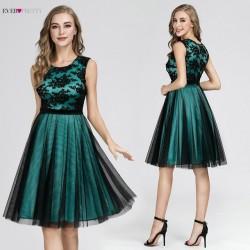 krátké společenské šaty zelené do tanečních Emma L