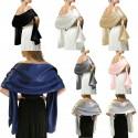 saténový šál přes ramena - přehoz přes společenské šaty - výběr barev