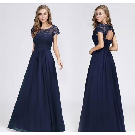 tmavě modré navy plesové šaty pro matku nevěsty XL- XXL