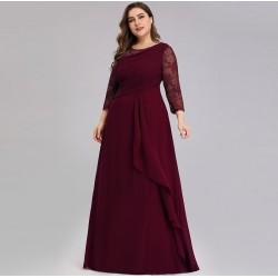 luxusní vínové plesové šaty pro matku nevěsty či ženicha Alyce 4XL