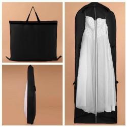 profesionální dlouhý vak na svatební šaty - černý