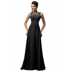 černé šifónové dlouhé plesové šaty Mina M