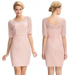 krátké růžové upnuté společenské šaty Lina XL