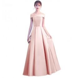 chamapagne saténové svatební plesové šaty Mina S-M