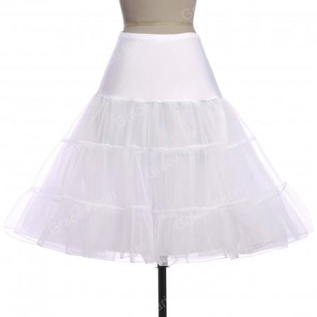 krátká spodnice pod krátké společenské nebo svatební šaty - bílá
