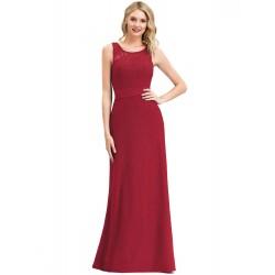 dlouhé krajkové vínové společenské šaty Sisi M
