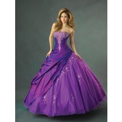 Luxusní fialové společenské šaty na míru