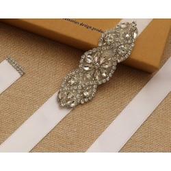 saténová stuha na svatební šaty - champagne