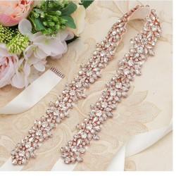 luxusní saténová stuha na svatební šaty - čistě bílá