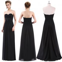 jednoduché černé společenské šaty dlouhé Jenny XL