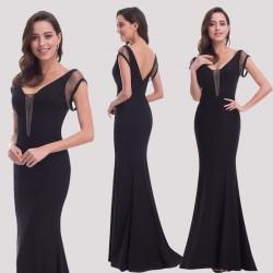luxusní černé společenské šaty dlouhé na ples Jenna M