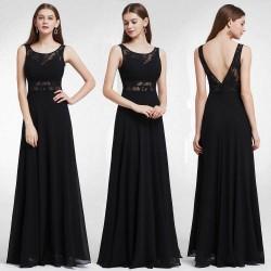 dlouhé černé společenské šaty na ramínka L