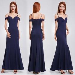 tmavě modré navy společenské šaty na ramínka S