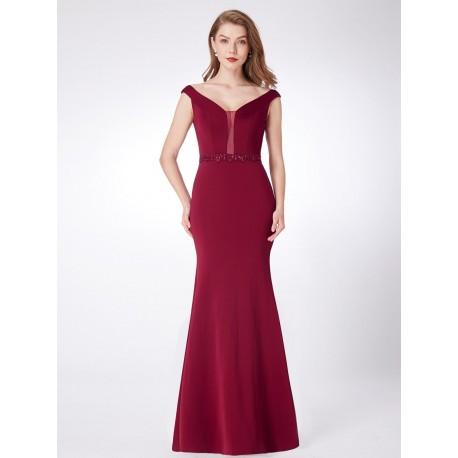dlouhé vínové společenské šaty upnuté na tělo Anna M