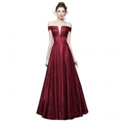 dlouhé vínové společenské šaty flitrované XS-S