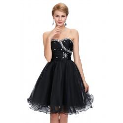 krátké černé společenské šaty Tina XS-S