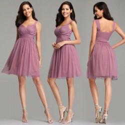 levandulové krátké společenské šaty do tanečních XS-S