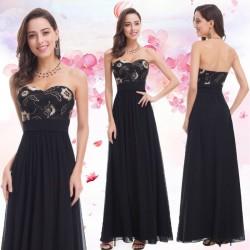 dlouhé černé společenské šaty na ples M