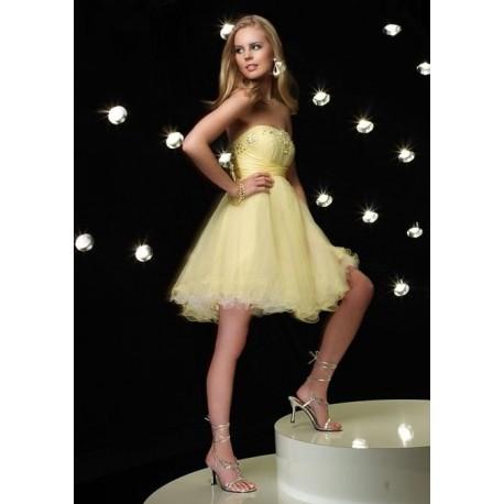 Luxusní žluté společenské šaty na míru